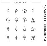 plant flat icon set. collection ... | Shutterstock .eps vector #565389346