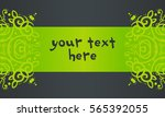 green template for text on a... | Shutterstock .eps vector #565392055