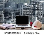 engineering industry concept in ... | Shutterstock . vector #565393762