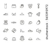 clothes icons  thin line style | Shutterstock .eps vector #565393972