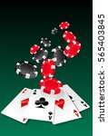 poker aces and chips | Shutterstock .eps vector #565403845