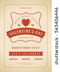 happy valentines day party... | Shutterstock .eps vector #565406446