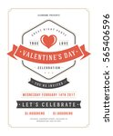 happy valentines day party... | Shutterstock .eps vector #565406596