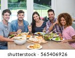portrait of happy multi ethnic... | Shutterstock . vector #565406926