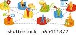 business linked activities | Shutterstock .eps vector #565411372