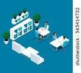 trendy isometric people  doctor'... | Shutterstock .eps vector #565414732