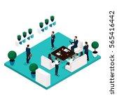 trend isometric people... | Shutterstock .eps vector #565416442