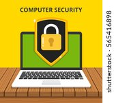 computer security concept.... | Shutterstock .eps vector #565416898