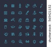 modern thin line icons of law... | Shutterstock .eps vector #565421152