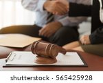 judge gavel with lawyers having ... | Shutterstock . vector #565425928
