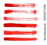 red vector strokes of paint on...   Shutterstock .eps vector #565427158