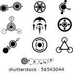 crop circle designs   Shutterstock .eps vector #56543044