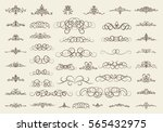 vintage decor elements and... | Shutterstock .eps vector #565432975