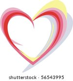 abstract heart | Shutterstock .eps vector #56543995