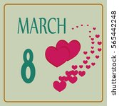 women day card. romantic mark... | Shutterstock .eps vector #565442248