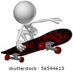 3d human character skate | Shutterstock . vector #56544613