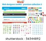 web designers toolkit   premium ... | Shutterstock .eps vector #56544892