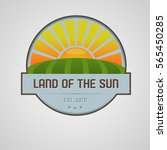 sun and fields logo  | Shutterstock .eps vector #565450285