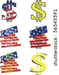 vector dollar symbol | Shutterstock .eps vector #56545591