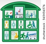 hospital icon | Shutterstock .eps vector #565456576