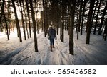 Woman Walking Into The Woods I...