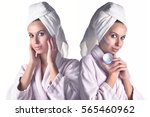perfect skin woman image   two... | Shutterstock . vector #565460962