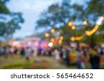 abstract blur people in night... | Shutterstock . vector #565464652