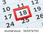 White Paper Calendar With The...