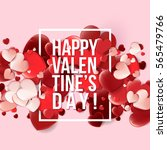 valentines day card with red... | Shutterstock .eps vector #565479766