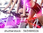 fit people working out at... | Shutterstock . vector #565484026