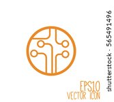 circuit board  technology icon. ... | Shutterstock .eps vector #565491496