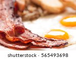 sunny side up eggs with organic ...   Shutterstock . vector #565493698