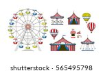 set of different colorful... | Shutterstock .eps vector #565495798