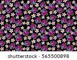 bright hawaiian seamless...   Shutterstock . vector #565500898