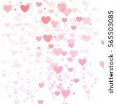 abstract bright hearts on a... | Shutterstock .eps vector #565503085
