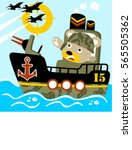 big war in the ocean vector...   Shutterstock .eps vector #565505362
