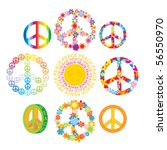 set of peace symbols | Shutterstock .eps vector #56550970