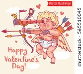 happy valentine's day. greeting ... | Shutterstock .eps vector #565510045