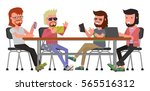 cartoon bright color banner.... | Shutterstock .eps vector #565516312