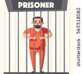 prison with prisoner. character ... | Shutterstock .eps vector #565518082