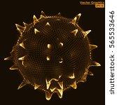 abstract 3d distorted sphere... | Shutterstock .eps vector #565533646
