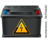 car battery with high voltage... | Shutterstock .eps vector #56554660