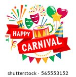 happy carnival festive concept... | Shutterstock .eps vector #565553152