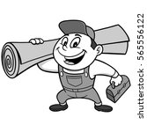 speedy carpet installer...   Shutterstock .eps vector #565556122