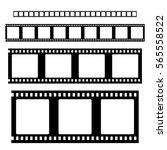 filmstrip  set  vector | Shutterstock .eps vector #565558522