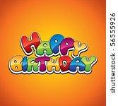 happy birthday decoration | Shutterstock .eps vector #56555926