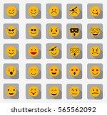 set of emoticons | Shutterstock .eps vector #565562092