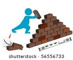 illustration of a man building...   Shutterstock .eps vector #56556733