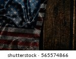 usa flag on a wood surface   Shutterstock . vector #565574866