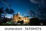 st. peter's church at night ... | Shutterstock . vector #565584076